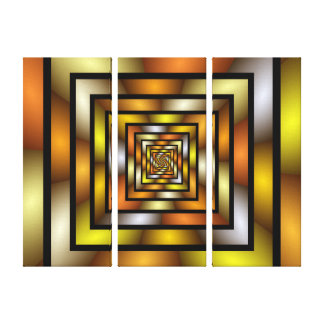 Luminous Tunnel Colorful Graphic Fractal Pattern Canvas Print
