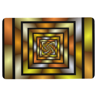Luminous Tunnel Colorful Graphic Fractal Pattern Floor Mat