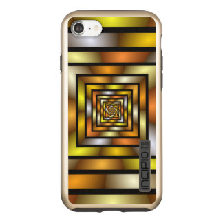 Luminous Tunnel Colorful Graphic Fractal Pattern Incipio DualPro Shine iPhone 8/7 Case