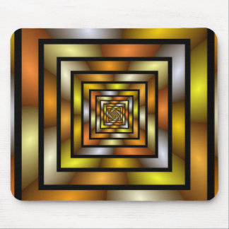 Luminous Tunnel Colorful Graphic Fractal Pattern Mouse Pad