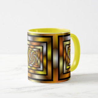 Luminous Tunnel Colorful Graphic Fractal Pattern Mug