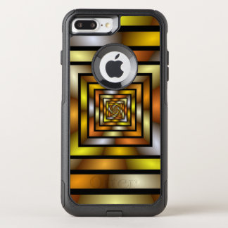 Luminous Tunnel Colorful Graphic Fractal Pattern OtterBox Commuter iPhone 8 Plus/7 Plus Case