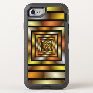 Luminous Tunnel Colorful Graphic Fractal Pattern OtterBox Defender iPhone 8/7 Case