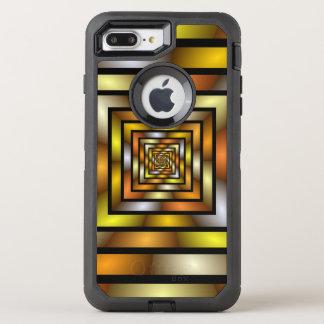 Luminous Tunnel Colorful Graphic Fractal Pattern OtterBox Defender iPhone 8 Plus/7 Plus Case