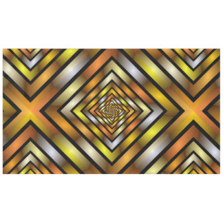 Luminous Tunnel Colorful Graphic Fractal Pattern Tablecloth