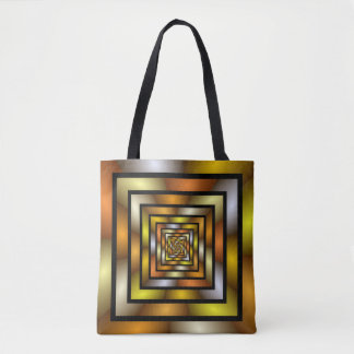 Luminous Tunnel Colorful Graphic Fractal Pattern Tote Bag