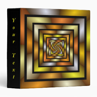 Luminous Tunnel Colorful Graphic Fractal Text 3 Ring Binder