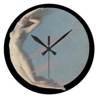 LUNA:  Goddess of the Moon Large Clock