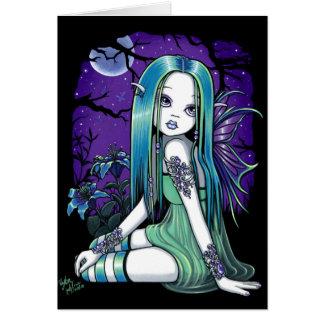 """Luna"" Gothic Moon Lilly Fairy Art Card"