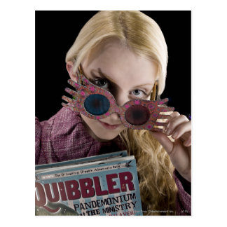 Luna Lovegood Peeks Over Glasses Postcard