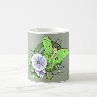 Luna Moth and Moonflower Coffee Mug