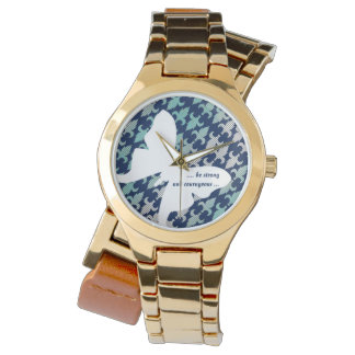 Luna Moth Buffalo Plaid Damask Mint Midnight Blue Watches