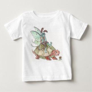 Luna Moth Faerie Riding a Tortoise Infant T-shirt