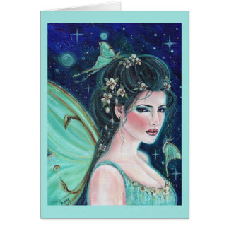 Luna Moth Fairy card by Renee Lavoie