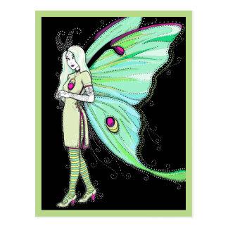 Luna moth fairy postcard