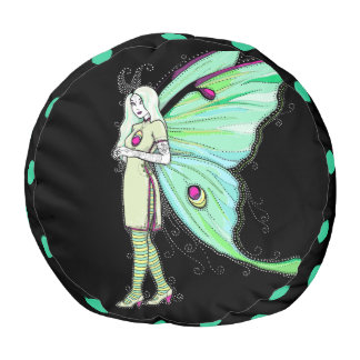 Luna moth fairy pouf cushion seating dorm