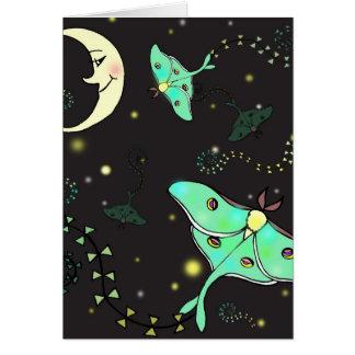 Luna Moth Kites Greeting Card