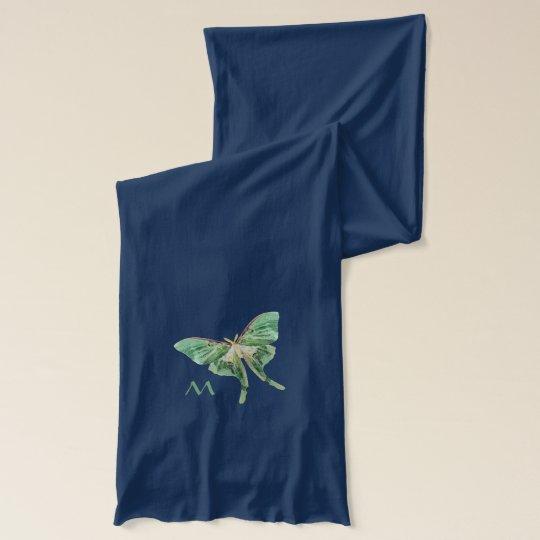 Luna Moth Monogram Scarf
