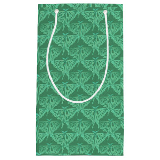 Luna Moth Pattern Small Gift Bag