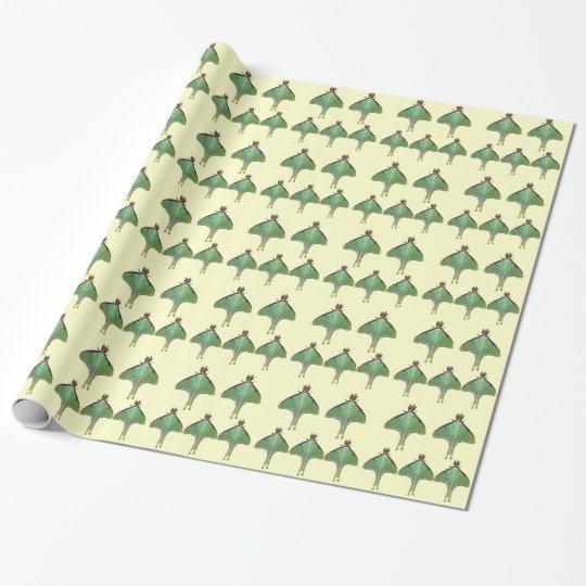 Luna Moth Wrapping Paper
