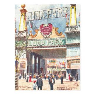 Luna Park New York Postcard
