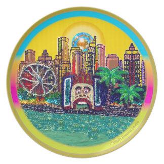 Luna Park Sydney Australia by Sequin Dreams Studio Plate