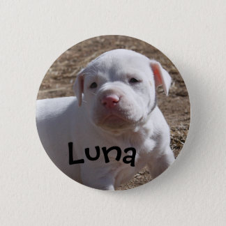 Luna, Saved Puppy 2 Inch Round Button