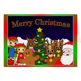 'Lunar and Willow's Christmas Wish' Christmas Card