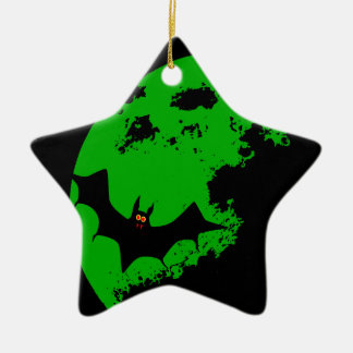 Lunar Bat Ceramic Star Ornament
