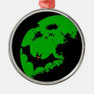 Lunar Bat Silver-Colored Round Ornament