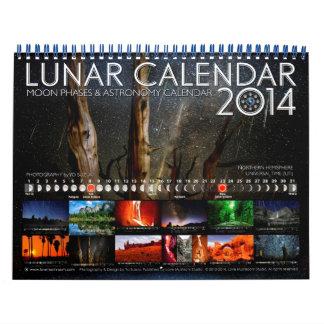 Lunar Calendar 2014 Astronomy Wall Calendar B