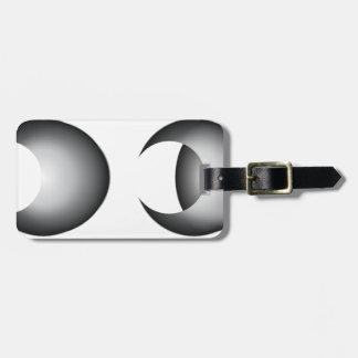 lunar eclipse luggage tag