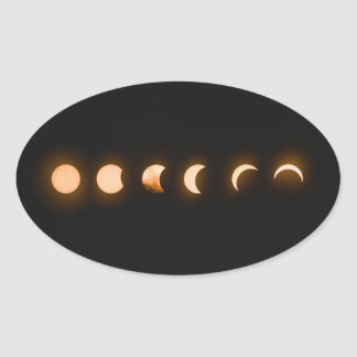 Lunar Eclipse of the Moon Oval Sticker