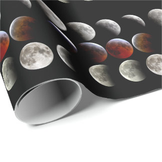 Lunar eclipse wrapping paper