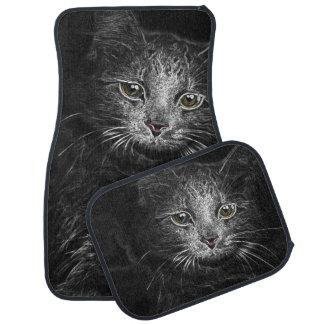 Lunar Essence of the Siberian Kitty Cat Car Mat