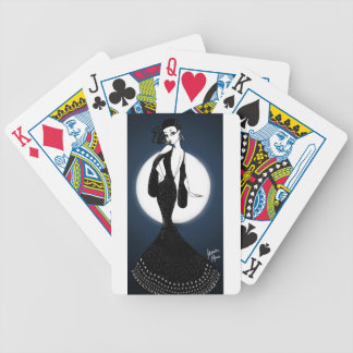 Lunar Lady Bicycle Playing Cards