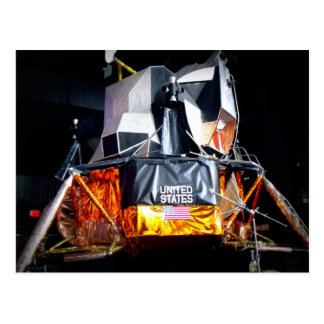 Lunar Module at Night Postcard