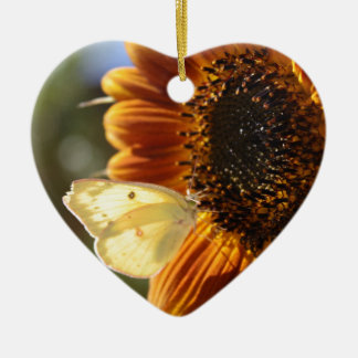 Lunar Moth Sun Landing Ceramic Ornament