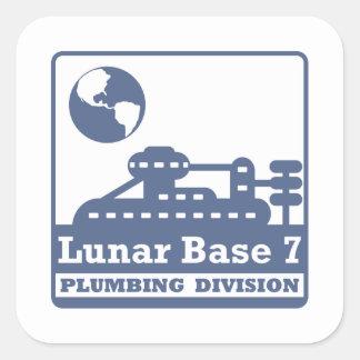 Lunar Plumbing Division Square Sticker