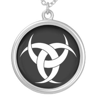 Lunar Power Silver Plated Necklace