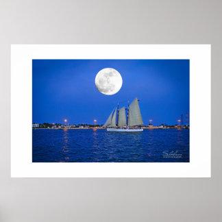 Lunar Schooner—Key West, FL Poster
