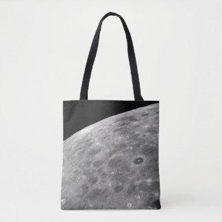 lunar surface tote bag