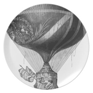 Lunardi's_New_Balloon_as_it_ascended_with_Himself_ Plate