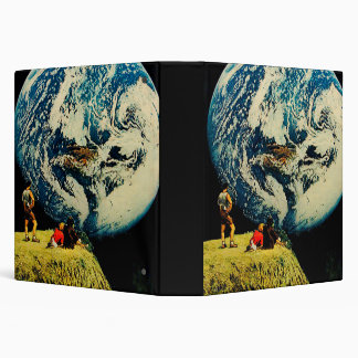 Lunarscape Collage 3 Ring Binder