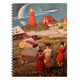 Lunarscape Collage Spiral Notebook