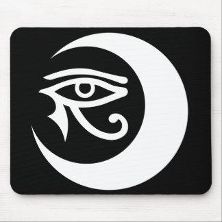 LunaSees Logo Mousepad (white / black eye)