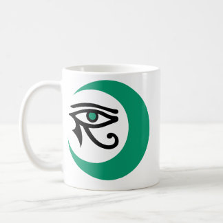 LunaSees Logo Mug (2 sided: jade/black, jade eye)