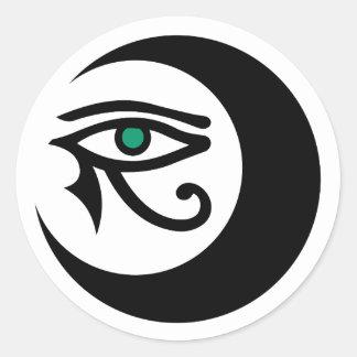 LunaSees Logo Sticker (black / jade eye)