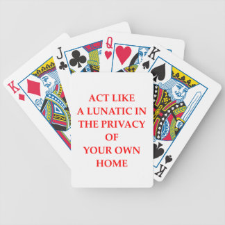 lunatic bicycle playing cards