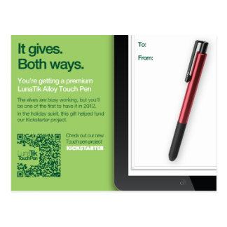 LunaTik Touch Pen Gift card - Alloy